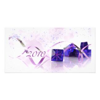 Celebración 2010 tarjeta con foto personalizada