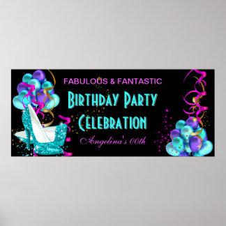 Celebración 2 de la fiesta de cumpleaños de la póster