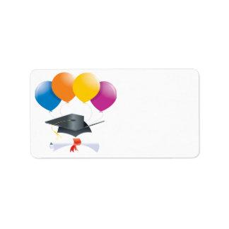 Celebración 2 de la graduación etiquetas de dirección