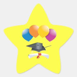 Celebración 2 de la graduación pegatina en forma de estrella