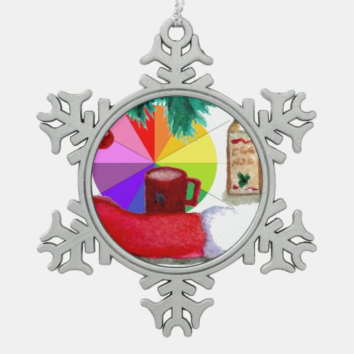 Celebración 5 del navidad del ornamento del copo d adorno