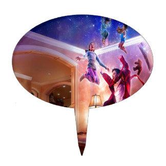 Celebración abstracta de Peter Pan de la fantasía Figuras Para Tartas