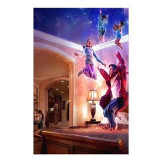 Celebración abstracta de Peter Pan de la fantasía Papelería De Diseño