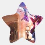Celebración abstracta de Peter Pan de la fantasía Colcomanias Forma De Estrellas