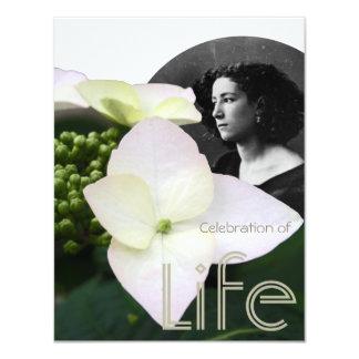 """Celebración adaptable de la vida con el retrato invitación 4.25"""" x 5.5"""""""