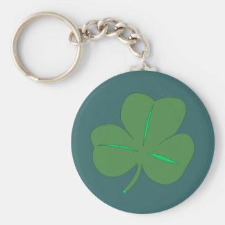 Celebración afortunada del irlandés del encanto llavero redondo tipo pin