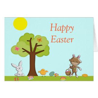 Celebración al aire libre feliz de Pascua Tarjeta De Felicitación