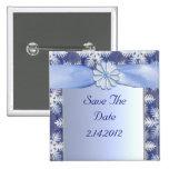 Celebración azul cristalina del copo de nieve pins