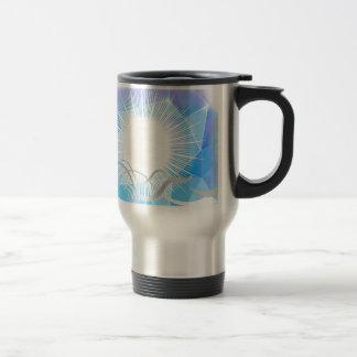 celebración, azul taza de viaje de acero inoxidable