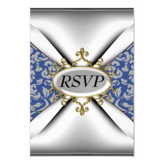"""Celebración blanca RSVP de la fiesta de cumpleaños Invitación 3.5"""" X 5"""""""