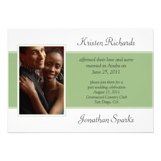Celebración blanca verde moderna del boda del post anuncios