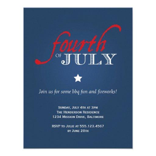 Celebración colonial de la independencia de julio  comunicados personalizados