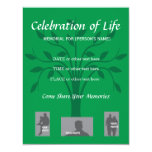 Celebración conmemorativa de la vida - diseño del anuncio