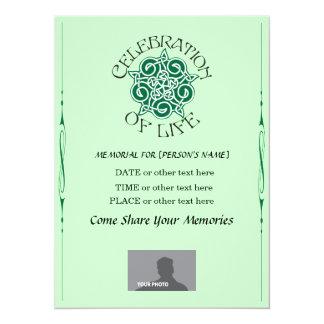 Celebración conmemorativa de la vida - diseño invitación 13,9 x 19,0 cm