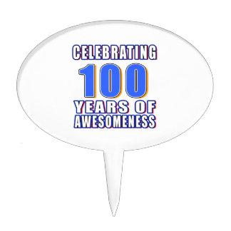 Celebración de 100 años de awesomeness palillos de tarta