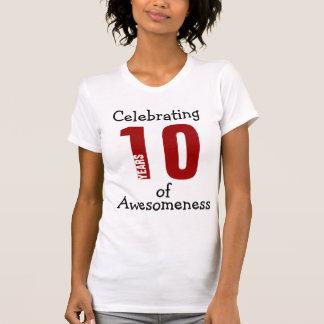 Celebración de 10 años de Awesomeness Camiseta