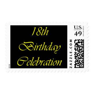 Celebración de 18 cumpleaños sellos