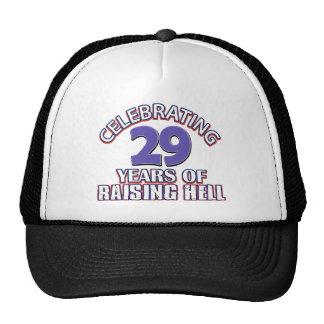Celebración de 29 años de infierno de aumento gorra