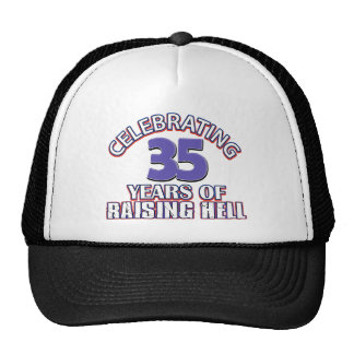 Celebración de 35 años de infierno de aumento gorra