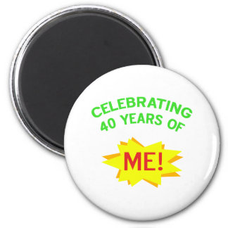 Celebración de 40 años de mí imán redondo 5 cm