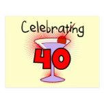 Celebración de 40 camisetas y regalos postales