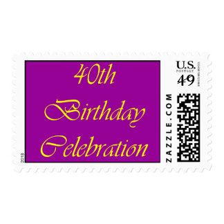 Celebración de 40 cumpleaños sello
