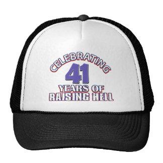 Celebración de 41 años de infierno de aumento gorros bordados