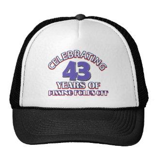 Celebración de 43 años de infierno de aumento gorras