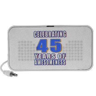 Celebración de 45 años de awesomeness altavoces