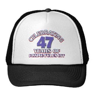 Celebración de 47 años de infierno de aumento gorro de camionero