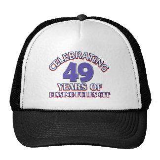 Celebración de 49 años de infierno de aumento gorro de camionero