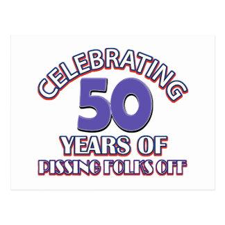 Celebración de 50 años de infierno de aumento tarjeta postal