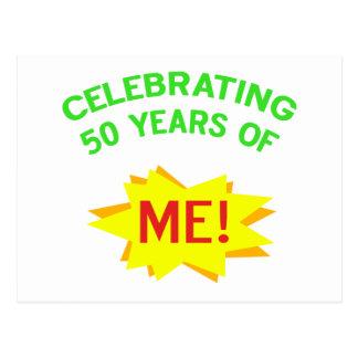 Celebración de 50 años de mí tarjeta postal