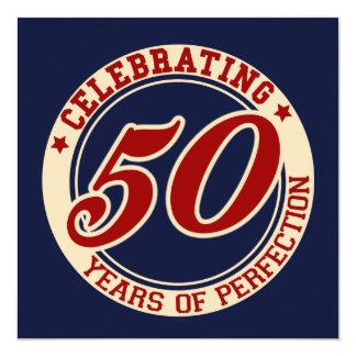 """Celebración de 50 años de perfección invitación 5.25"""" x 5.25"""""""