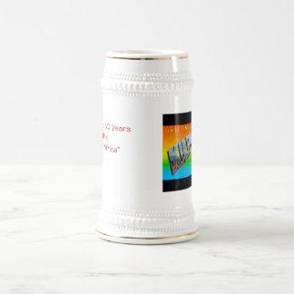 Celebración de 50 años jarra de cerveza