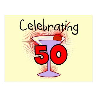 Celebración de 50 camisetas y regalos postales