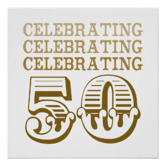 ¡Celebración de 50! (Fiesta de cumpleaños) Impresiones