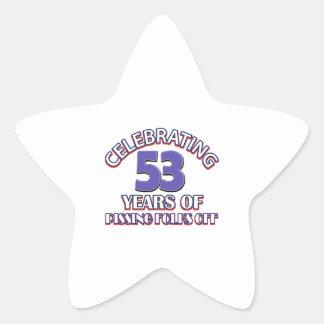 Celebración de 53 años de infierno de aumento pegatina en forma de estrella