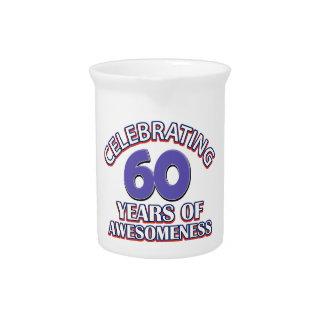 Celebración de 60 años jarrón