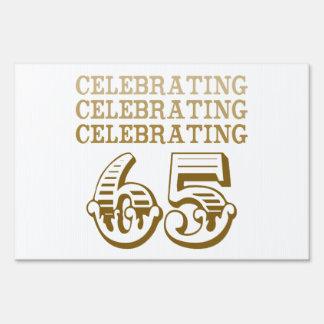 ¡Celebración de 65! (Fiesta de cumpleaños) Carteles