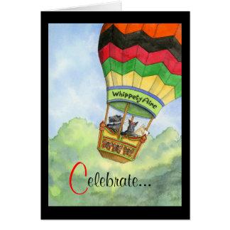 Celebración de aerostación del escocés tarjeta de felicitación