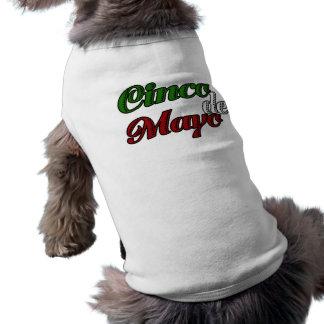 Celebración de Cinco De Mayo Camisetas De Perrito