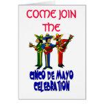 Celebración de Conco De Mayo Felicitacion