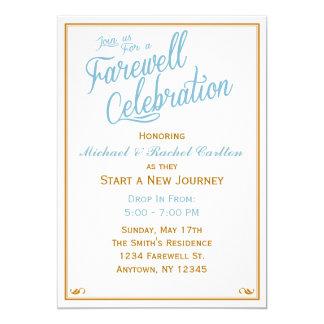 Celebración de despedida que va lejos invitación
