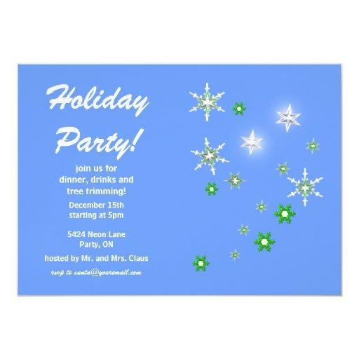 """Celebración de días festivos azul de la chispa de invitación 5"""" x 7"""""""