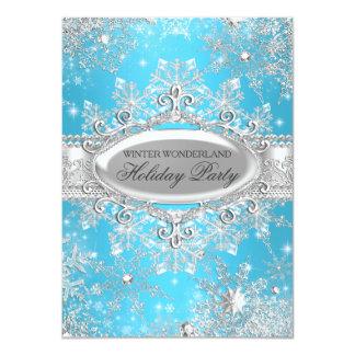 """Celebración de días festivos azul del navidad del invitación 4.5"""" x 6.25"""""""