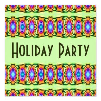 """celebración de días festivos colorida invitación 5.25"""" x 5.25"""""""