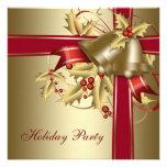 Celebración de días festivos corporativa del navid invitaciones personales