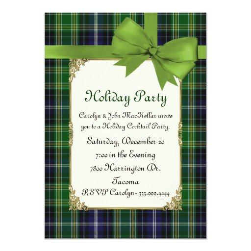 """Celebración de días festivos de encargo verde invitación 5"""" x 7"""""""