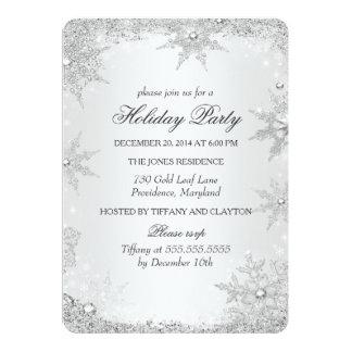 Celebración de días festivos de plata del navidad invitación